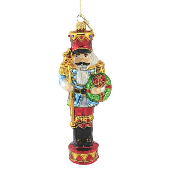 Nutcracker with Stick Ornament by Huras Family