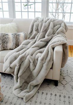 Dove Posh Faux Fur Throw by Donna Salyers Fabulous Furs