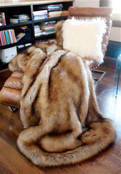 Tawny Fox Faux Fur Throw by Donna Salyers Fabulous Furs