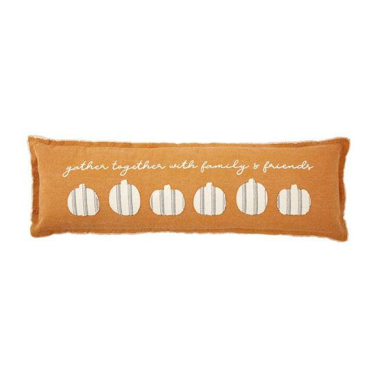 Stripe Pumpkin Long Pillow by Mudpie