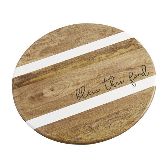 Bless This Food Lazy Susan by Mudpie