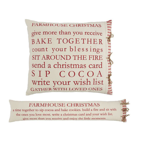 Farm Christmas Definition Pillows by Mudpie