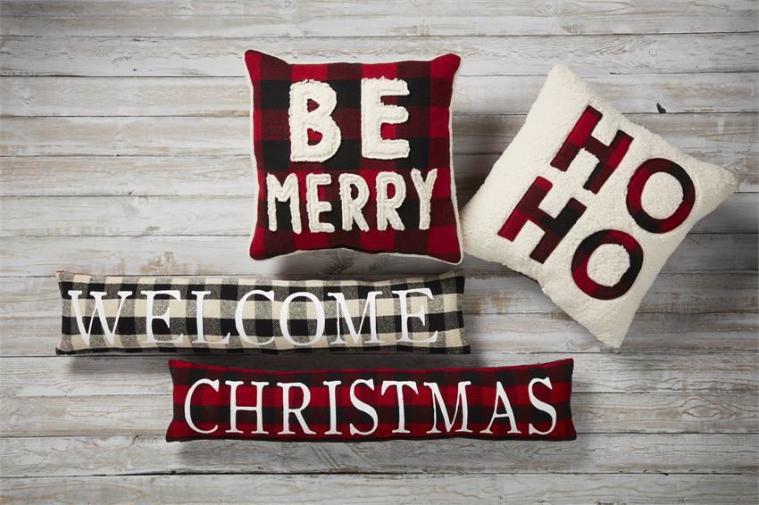 Christmas Fuzzy Pillows by Mudpie
