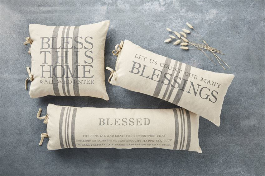 Blessed Definition Pillow by Mudpie