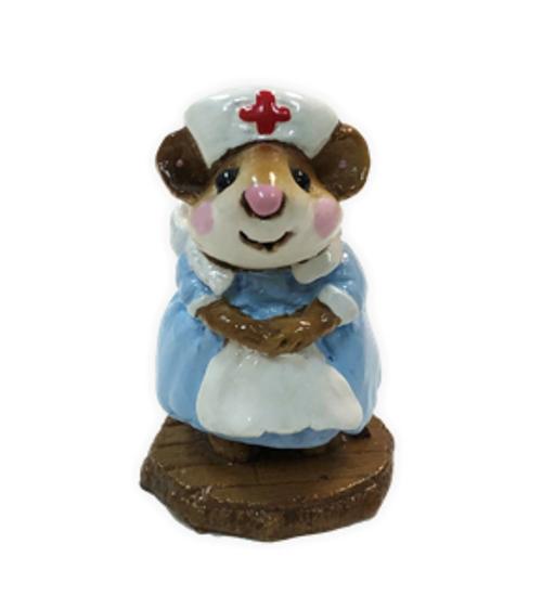 Mousey Nurse M-095 (Blue) by Wee Forest Folk®