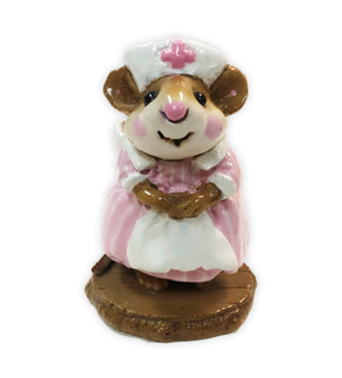 Mousey Nurse M-095 (Pink w/Stripes) by Wee Forest Folk®