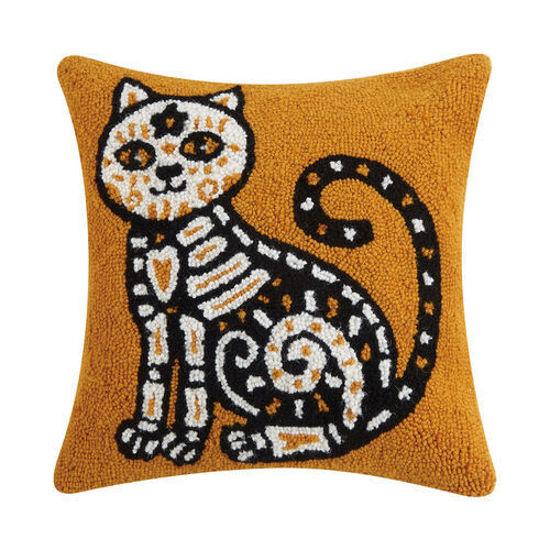 Day of the Dead Wool Pillow by Peking Handicraft