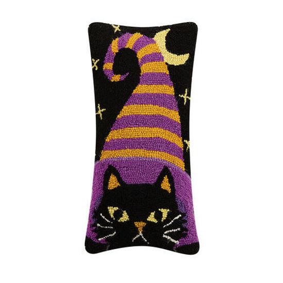 Witch Hat Cat Wool Pillow by Peking Handicraft