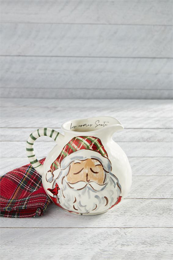 Santa Pitcher by Mudpie