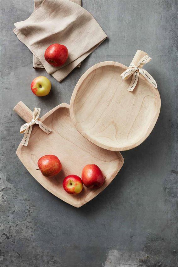 Paulownia Pumpkin Tray by Mudpie