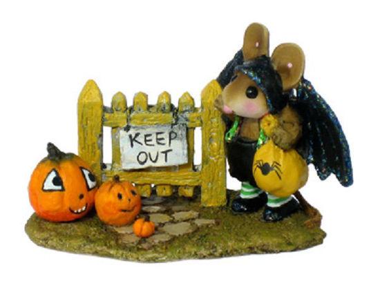 Little Halloween Bat with Pumpkins M-345 by Wee Forest Folk®