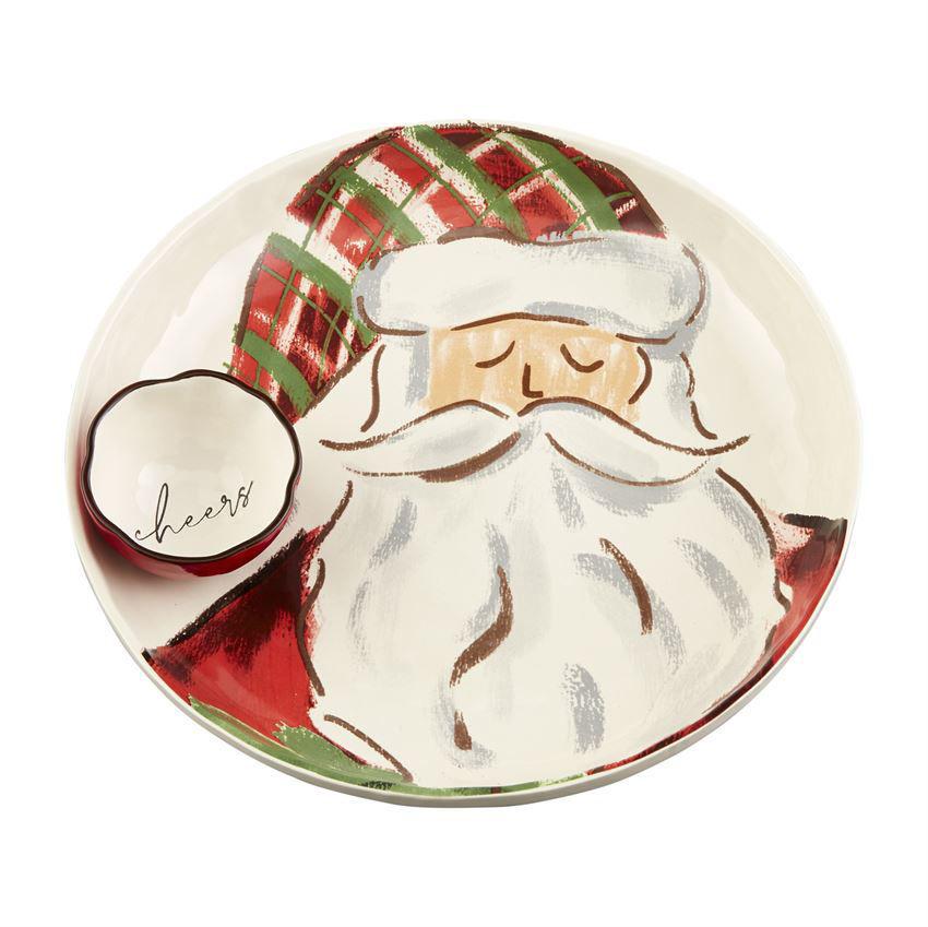 Tartan Santa Chip N Dip by Mudpie