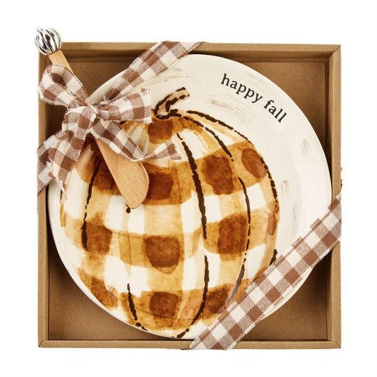 Pumpkin Thanksgiving Cheese Set by Mudpie
