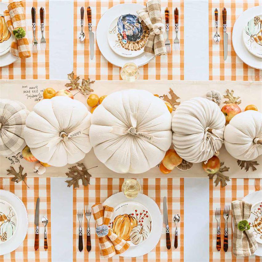 Cream Pumpkin Sitters (Assorted) by Mudpie