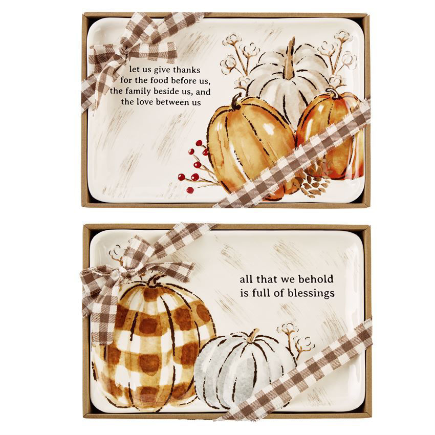Pumpkin Boxed Sentiment Trays by Mudpie