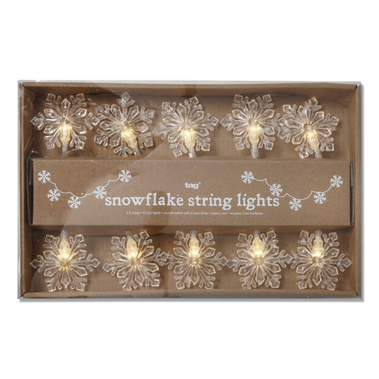 Snowflake LED String Lights by TAG