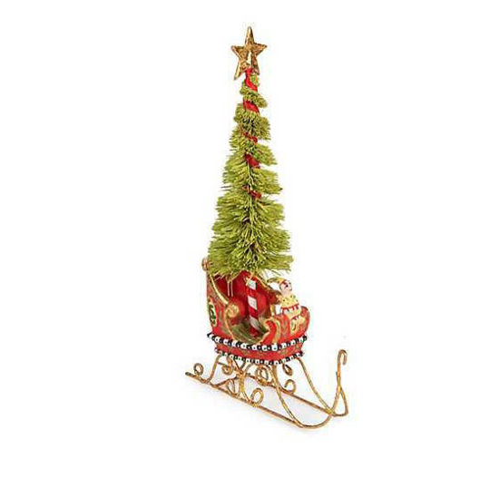 Mini Dash Away Sleigh with Tree by Patience Brewster