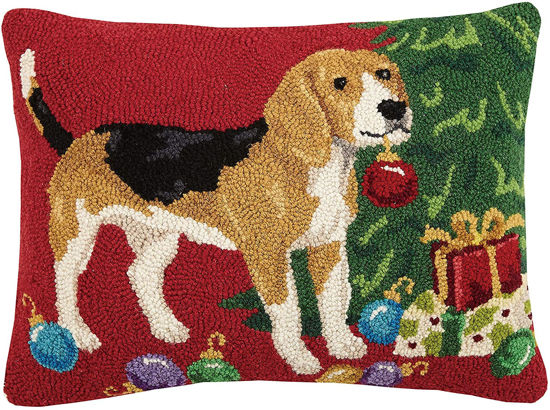 Beagle with Christmas Ornament Pillow by Peking Handicraft