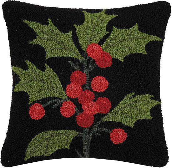 Holly Wool Pillow by Peking Handicraft