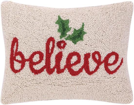 Believe Holly Pillow by Peking Handicraft