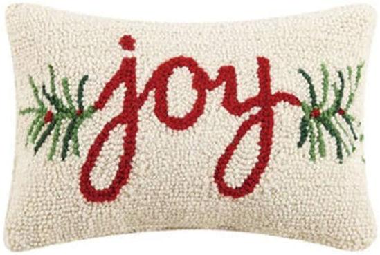 Joy Hook Wool Pillow by Peking Handicraft