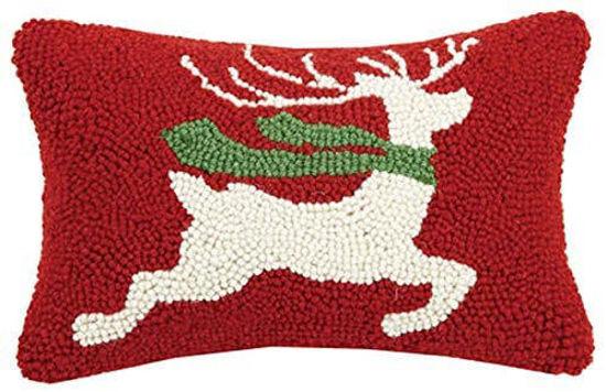 Prancing Reindeer Pillow by Peking Handicraft