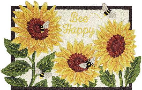 Bee Happy Hook Rug by Peking Handicraft