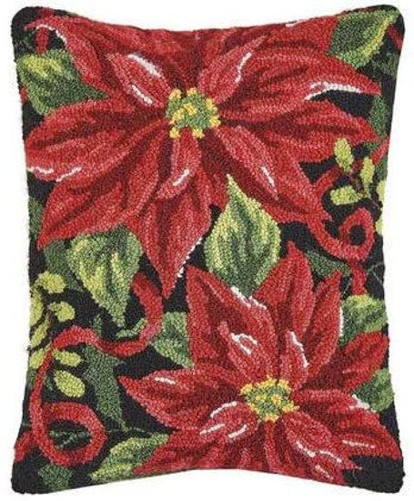 Poinsettia Pillow by Peking Handicraft