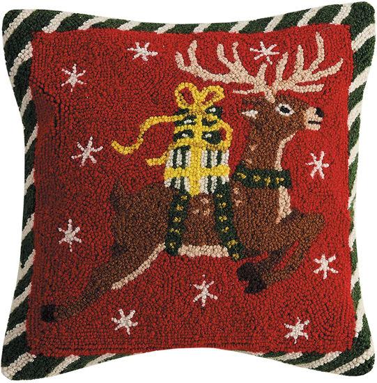 Reindeer with Gifts Pillow by Peking Handicraft