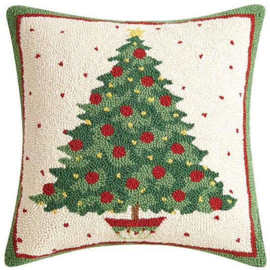Deck the Halls Hook Wool Pillow by Peking Handicraft