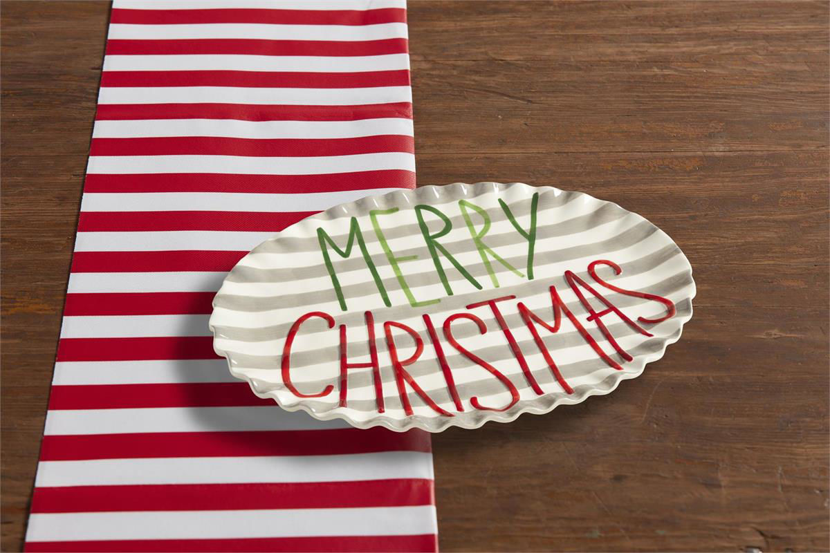 Merry Christmas Platter by Mudpie