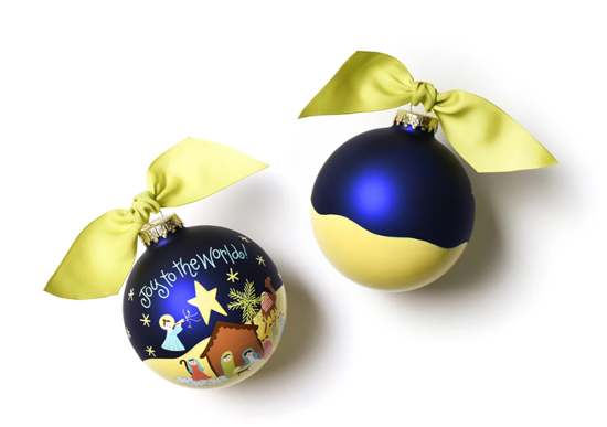 Joy to the World Nativity Ornament by Coton Colors