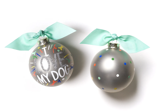 I Love My Dog Popper Ornament by Coton Colors