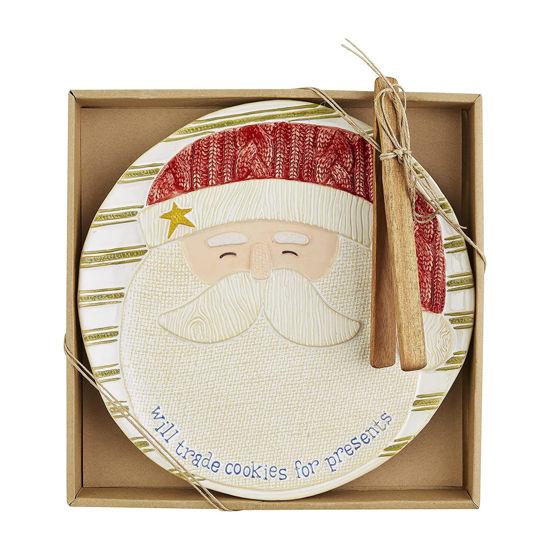 Santa Cookie Plate Set by Mudpie