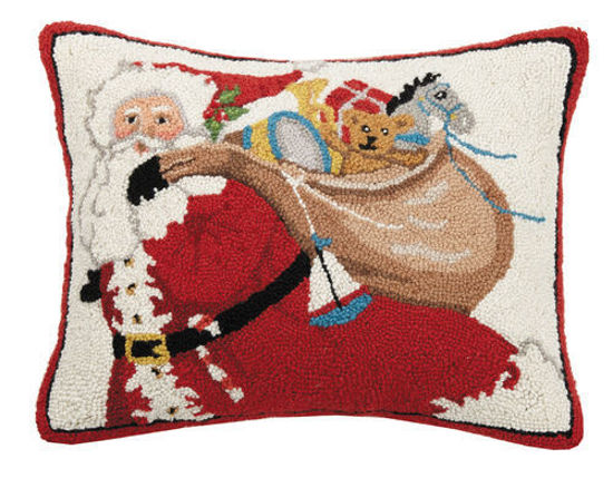 Santa w/Bag of Presents Pillow by Peking Handicraft