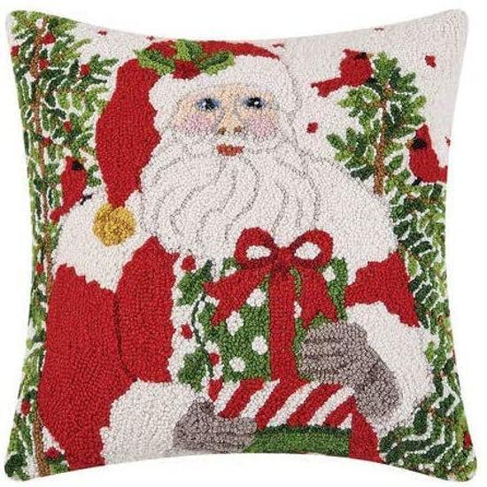 St Nick Hook Wool Pillow by Peking Handicraft