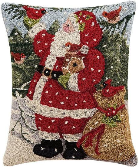 Snowy Santa Pillow by Peking Handicraft