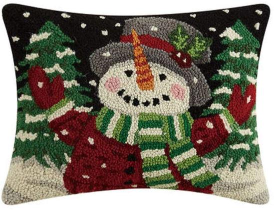 Jolly Snowman Pillow by Peking Handicraft