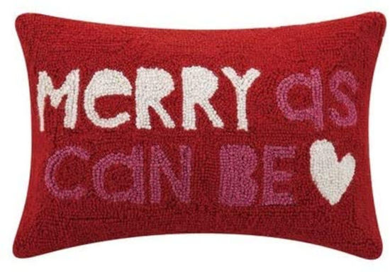 Merry As Can Be Pillow by Peking Handicraft