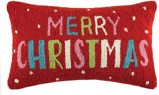 Multi Merry Christmas Pillow by Peking Handicraft