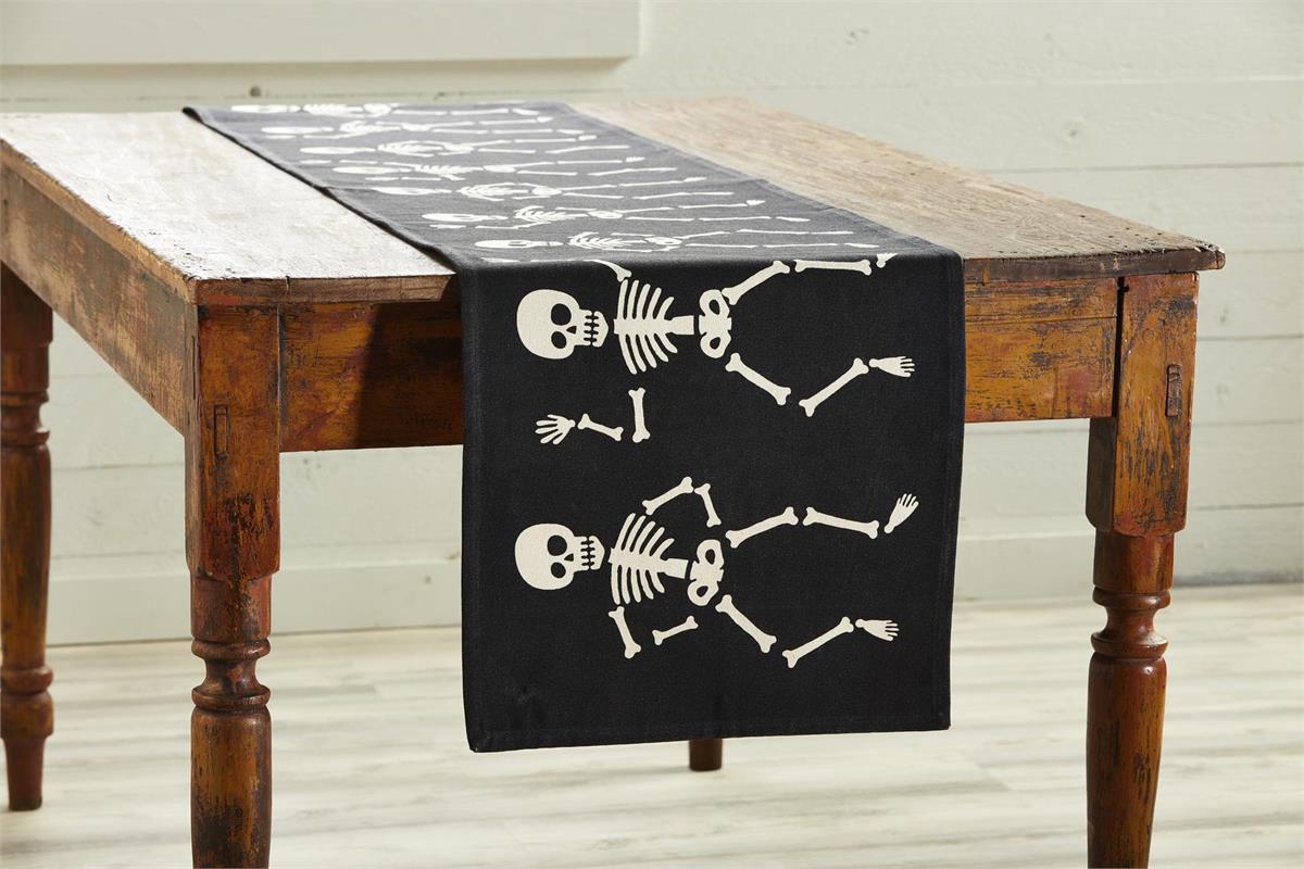 Dancing Skeleton Table Runner by Mudpie